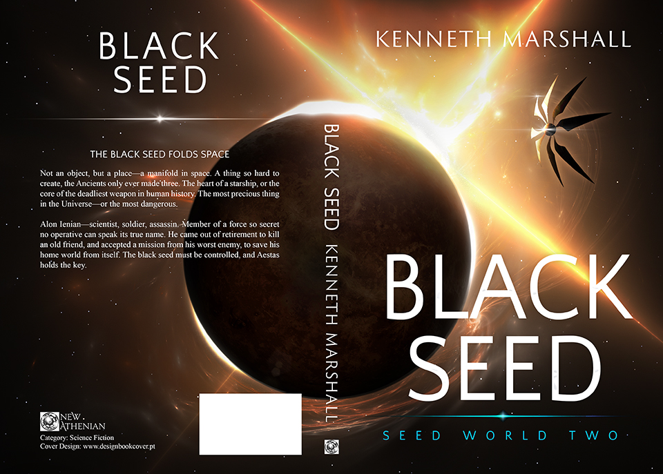 Book Cover Design Black : Design book cover black seed see world two